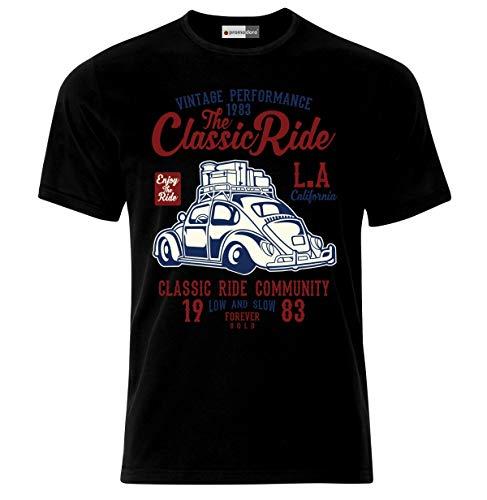369ceb7bc Ekate Hot Rod Rockabilly Hot Rat Classic Muscle Cars Vintage T-Shirt (M,