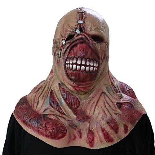 GXDHOME Latex Kopf Masken, Resident Evil Halloween Horror Ghost Zombie Kostüm Scary Teufel Demon Bloody Creepy Kostüm