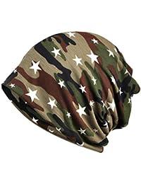 Amorar Homme Femme Bonnets Hut Chapeau de Bandana Turban Multi-usages Skull  Cache Cou Foulard Écharpe pour Motards ou… ce5d5345fa2