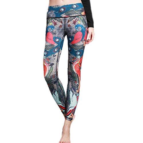 HANMAX Damen Kompression Fitnesshose - Sport Leggings Trainingshose für Fitness, Joggen, Yoga, Laufen etc.