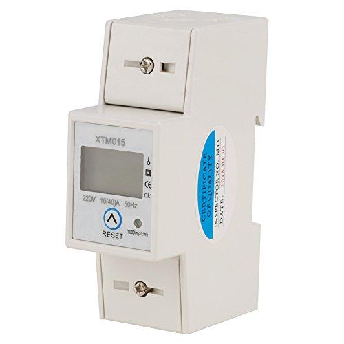Digitaler 1-phasiger 2-poliger 2P-DIN-Schienen-Stromzähler Elektronischer KWh-Zähler 220V 10 (40) A -