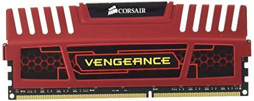 Corsair CMZ16GX3M2A1600C10R Vengeance Memoria per Desktop, 16 GB (2x8 GB), DDR3, 1600 MHz, CL10, con Supporto XMP, Rosso