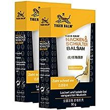 TIGER BALM Nacken & Schulter Balsam / Natürlicher Balsam bei Verspannungen im Nacken- & Schulterbereich / Pflegende Einreibung ideal für unterwegs / 2 x 50 g