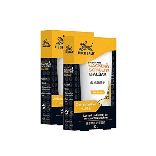 TIGER BALM Nacken & Schulter Balsam / Natürlicher Balsam bei Verspannungen im Nacken- & Schulterbereich / Pflegende Einreibung ideal für...
