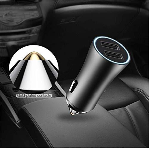 Innovationen-bluetooth-headset (YOUXIU Auto-Ladegerät Duale USB-Schnittstelle LED-Licht 2.4A Smart Autoladegerät Kompatibel mit digitalen Produkten wie Smartphones/Bluetooth-Headsets/Tablets,Red)