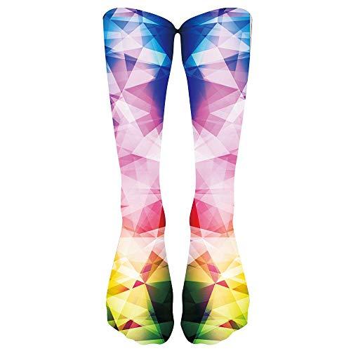 Yvelands Socken Strumpfhosen Strümpfe Bunte Krawatten Kompressionssocken-Fußball hohe Socken Ange Socken(One ()