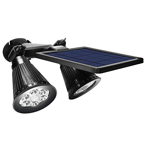 Illuminazione Esterno Solare 350°Ruotabile, 12 LED Lampade Solari Giardino con Sensore di Movimento, Tempo di Illuminazione: 8-11 ore,Tempo di Ricarica: 4-5 ore, Rilevare la Distanza 8m/26ft