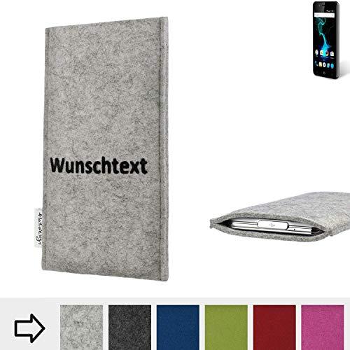 flat.design Handy Hülle Porto für Allview P6 Pro personalisierbare Handytasche Filz Tasche Name Wunschtext Case fair