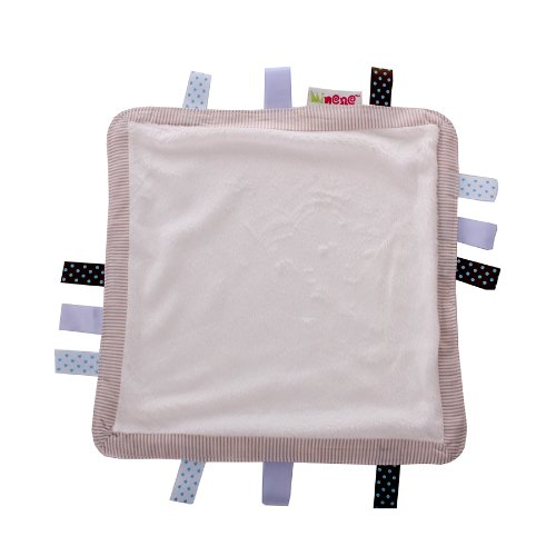 Minene Baby Comfort Blanket Comforter for Baby Security Tag Comforter Blankie- Cream Square