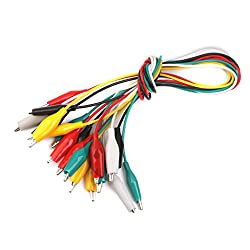 Imported 10pcs 50cm Double-ended Crocodile Clips Cable Alligator Clips Wire Testing