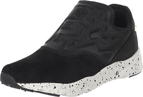 Sneaker slip on Reebok Furylite in tessuto neoprene e camoscio nero Nero