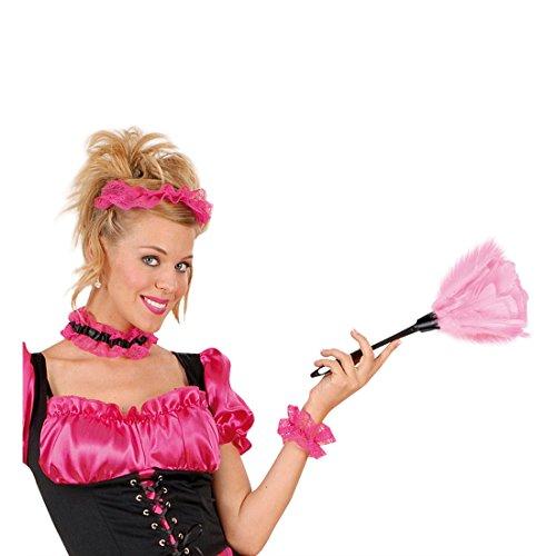 Rosa Staubbesen Staubwedel rosa Putzwedel Staub Besen Staubfeger utzfrau Zimmermädchen Kostüm Accessoire Dienstmädchen Zofe