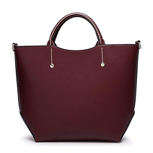 YYW Large Tote Bag, Borsa tote donna Burgundy
