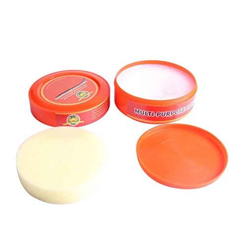 Lomsarsh Natürliches Reinigungsmittel Multifunktionale Reinigungscreme Brilliaire Polierer + 1 STÜCK Multifunktionstuch Lappen Combin (Unscented Seife)
