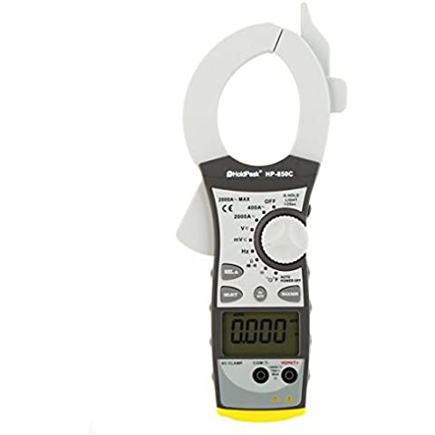 Kingzer hp-850C 2000un medidor digital de pinza metros Amp Volt Ohm temperatura condensador con Dual LCD