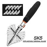HOHXEN 45-135 gradi Multi Angle Miter Shear Cutter Hand Tools Soft Wood Cutter Orange/Black Angle Cutter con 1-10 lame, nero