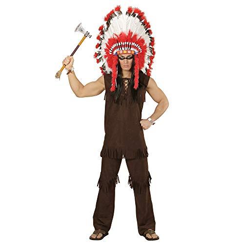 Indianer Motto Kostüm Cowboy Und - Widmann - Erwachsenenkostüm Indianer