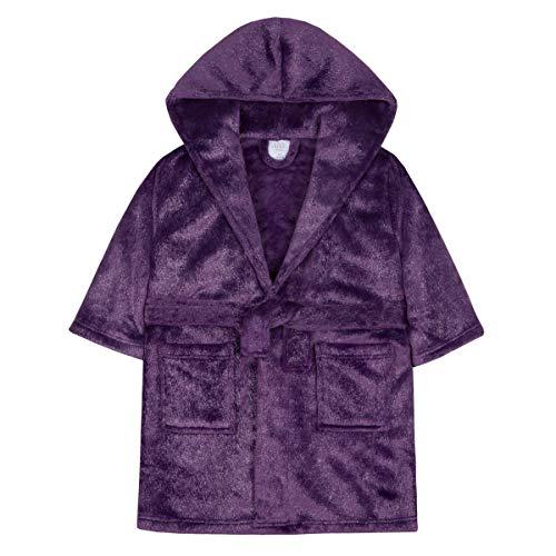 Morgenmantel * One Size Gr. 3-4 Jahre, Purple Glitter Sparkle Robe - Hooded ()