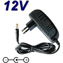 Top cargador® Adaptador alimentación cargador 12V para reproductor DVD portátil Sunstech dlpm959