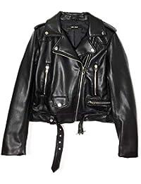 Veste cuir femme noir zara