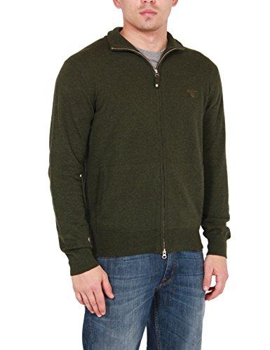 Gant Men's Cartigan 100% Cotton green