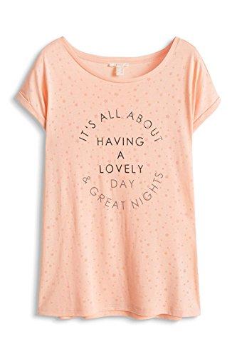 Esprit 056ee1k023-Textprint, T-Shirt Femme Rose (SALMON 860)