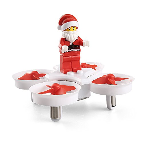 Faltbar RC Quadcopter, JJRC H672.4GHz 4CH Headless Modus Flying Santa Claus Mini RC Flugzeug Drohne mit LED Musik–Ein Schlüssel Return–360Grad Flip–weiß
