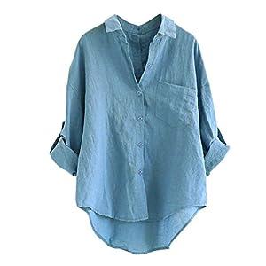 FeiBeauty 2018 Frauen Lange Hülsen beiläufige Lose Oberseiten T-Shirt Bluse Tee Tunika Vintage Basic Tops Spitzen Chiffon Oberteil Casual Langarm Shirt.