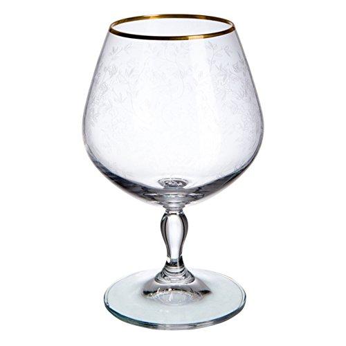 Cristal de Bohemia Royal Antoinette Copas de Coñac, Cristal, 6x6x14 c