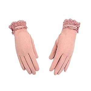 G-C-H GCC Touchscreen-Handschuhe Herbst und Winter warme Bestickte Frauen