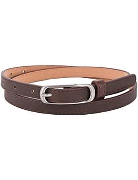 Damara Cinturón De Cintura Con Hebilla De Metal Delgada Para Mujer