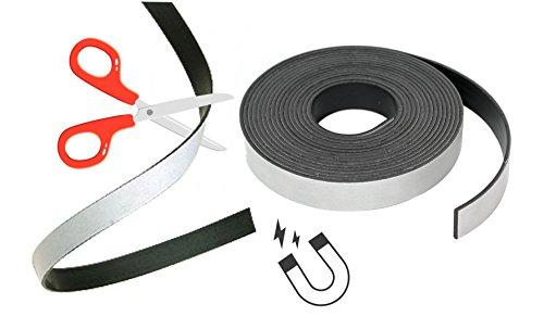 Magnetklebeband Magnetstreifen Magnetfolie Band Klebeband Magnet Magnetband Klebestreifen stark selbstklebend, 2500 mm Länge, 25 mm für Magnetleiste, Magnetstriefen uvm.