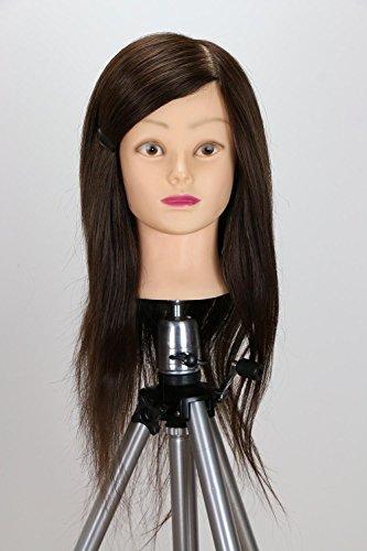 oisk® Cheveux Humains cosmétologie Mannequin Têtes Formation pratique style de coupe Tête Mannequin couleur Noir/Marron