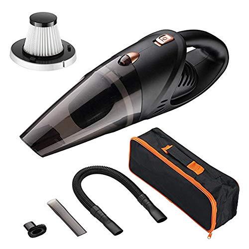 LHSZH Auto Vakuumreiniger, Auto-Hoover Akku-Vakuum, wiederaufladbare Handheld Akku-Vakuum, Wet/Dry, Power 80W Batterie 2200m Für Car/Home Vacuum,Black