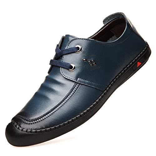 Leanax Herbst Mode Schnürschuhe Freizeit Atmungsaktive Männer Einzelne Schuhe Bequeme Fahrt Schuh Weiche Bequeme Lederschuhe Trend Match Rutschfeste Weiche Unterseite Schuh Kleidung, Schuhe & Schmuck -