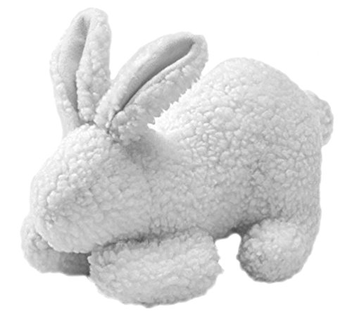 HUNTER KANINCHEN Hundespielzeug, Lammfell-Imitat, Teddyplüsch, 20 cm, weiß