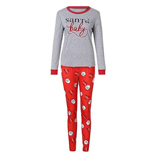 + 1 PC Hosen 2 STÜCKE Weihnachten Pyjamas Mama Vater Baby Langen Ärmeln Pyjamas Brief Drucken Top + Hosen Familie Kleidung Pyjamas ()
