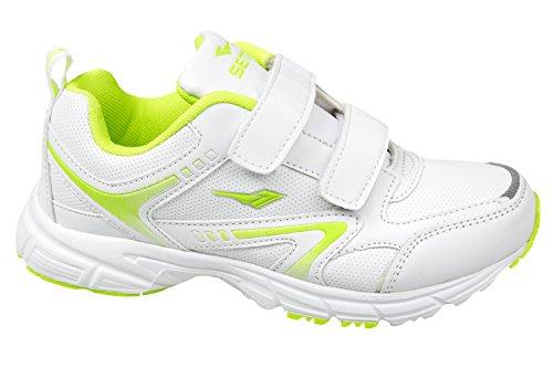 gibra, Sneaker donna Weiß/Neongrün