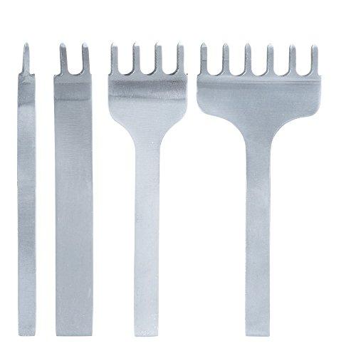 Malayas®4 Stück 3-6mm 1/2/4/6 Prong Leder Meißel DIY Metall Diamant Schnürung Leder Handwerk Locher Stanzen Werkzeug 6mm