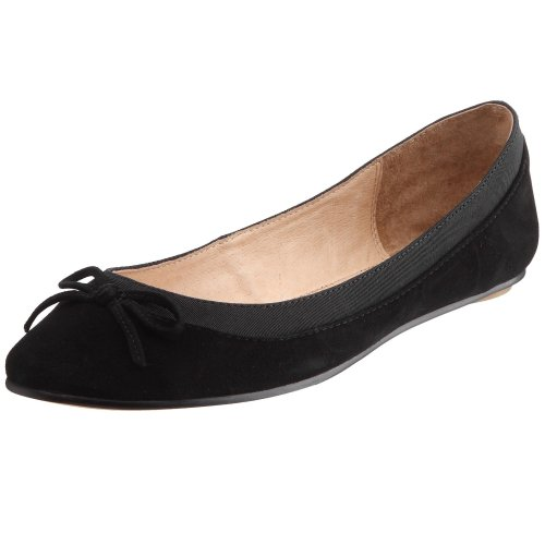 Buffalo London 207-3562 KID SUEDE, Damen Geschlossene Ballerinas, Schwarz (BLACK 01), 38 EU