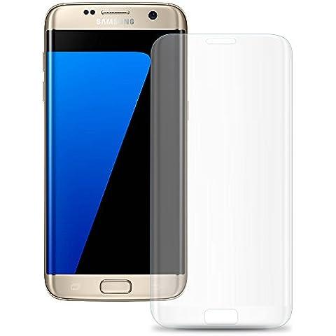 Cristal Templado Protector de Pantalla Para Samsung Galaxy S7 EDGE (Transparent) - NEVEQ® Vidrio Templado, el Samsung Galaxy S7 EDGE Curvo Edge-To-Edge Transparent (5.5) Pulgadas de Pantalla con Garantía de por Vida, piel Protectora de la Cubierta de 9H de Dureza.