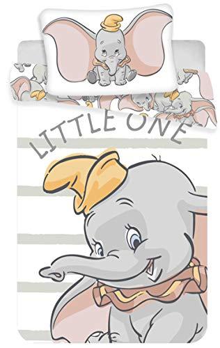 Dumbo - Parure de Lit bébé - Housse de Couette Coton