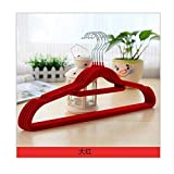 Dwthh 30Pcs Velvet Hangers  Flocked Hangers - Space Saving  Non-Slip Padded with Notched Shoulders