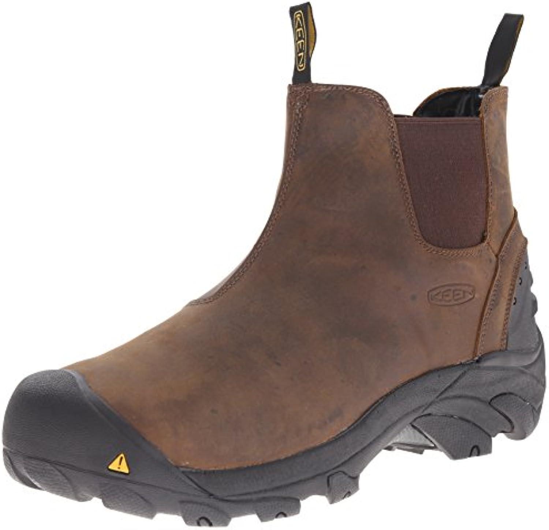 Keen Utility Men's Cleveland Soft Toe Engineer Boot  Raven/Inca Gold  11 EE US