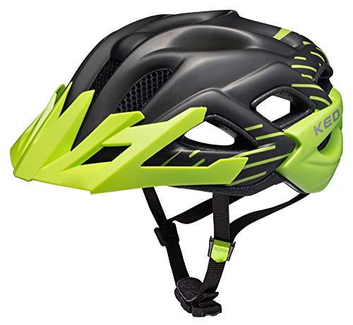 KED STATUS JUNIOR 2016 enfants et des adolescents casque de vélo, helm größen:49-55 cm;Ked Farbe 2015 (+SIze):green black matt