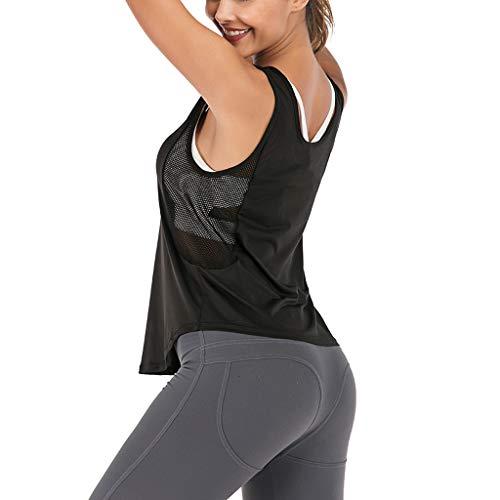 b3bdaea1f1851 Women's Soft Sports Yoga Vest - Women Fashion Sports Yoga Fitness Workout  Sleeveless Mesh T-