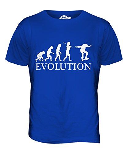 CandyMix Skateboardfahren Evolution Des Menschen Herren T Shirt Königsblau