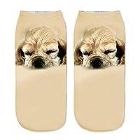 FHCGWZ 5pcs/set Fashion Cute 3D Print Dog Women Socks Casual Unisex Short Ankle Socks Funny Doggy Socks