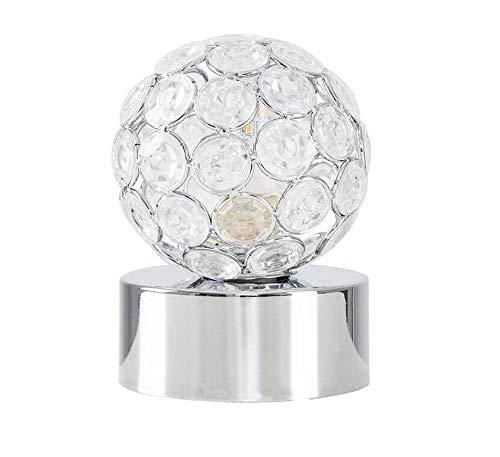 Poliert Chrom-drei-leuchte (Deckenleuchten Lampen Kronleuchter Pendelleuchten Poliert Chrom \U0026 Klarglas Mini Globe Touch Tischleuchte - Komplett mit Einer 3W Led-Glühlampe für Schlafzimmer Wohnzimmer Küche Gang Restaurant B)