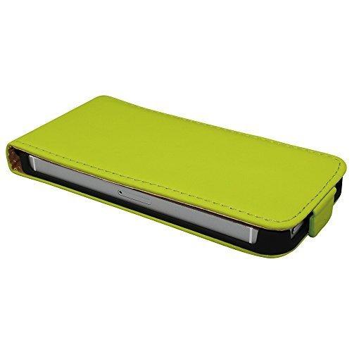 Avcibase 4260344989201 Flip PU Kunstleder Schutzhülle für Apple iPhone 4/4S rot Grün